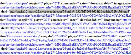 Image fichier de configuration XML du player